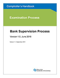 Comptroller's Handbook: Bank Supervision Process Cover Image