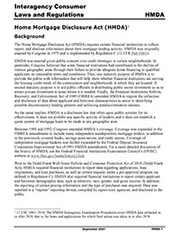 Comptroller's Handbook: Home Mortgage Disclosure Cover Image